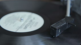 Vintage record player stock video footage
