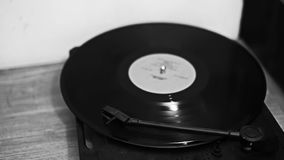 Vintage record plays vinyl old melody stock video