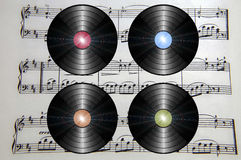 Vintage records Royalty Free Stock Images