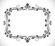Vintage rectangular floral frame Stock Image