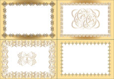 Vintage rectangular frame Royalty Free Stock Photography