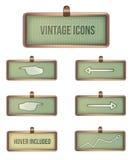 Vintage rectangular icons. Rectangular icons  in frames illustration Stock Image