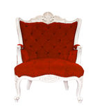 Vintage red armchair classical Royalty Free Stock Image