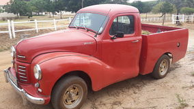 Vintage red Austin Royalty Free Stock Image