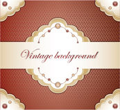 Vintage red background. Royalty Free Stock Image