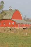 Vintage Red Barn Stock Photo