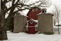 Vintage red barn Royalty Free Stock Image