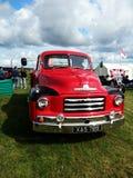 Vintage red Bedford truck stock images