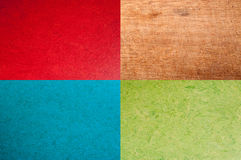 Vintage red, blue, green or wooden background Stock Photo