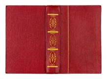 Vintage red book with gold pattern Royalty Free Stock Image