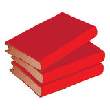 Vintage Red Book pile Royalty Free Stock Image