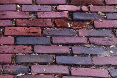 Vintage red brick pavement Stock Images
