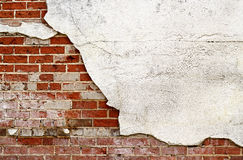 Brick and Stucco Wall Royalty Free Stock Photos