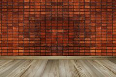 Vintage Red Brick wall, empty space, copy space royalty free stock photography