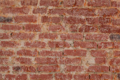 Vintage red brick wall texture closeup Royalty Free Stock Images