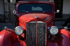 Vintage red car Royalty Free Stock Photos