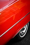 Vintage red car detail Stock Photography