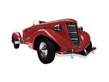 Vintage red car front view Stock Images