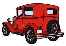 Vintage red car Stock Images
