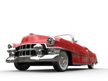 Vintage red car - low angle shot Royalty Free Stock Photo