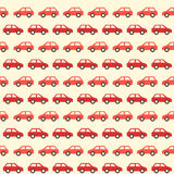 Vintage red car pattern Stock Photos