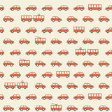 Vintage red car pattern Stock Image