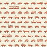 Vintage red car pattern Stock Image