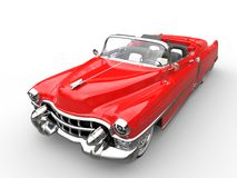 Vintage red car - top angle shot Royalty Free Stock Photos