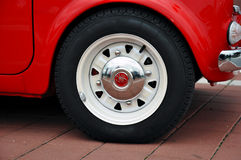 Vintage red car wheel Stock Image