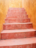 Vintage red cement staircase Royalty Free Stock Photos