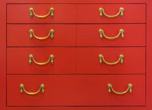 Vintage red chest of drawers Royalty Free Stock Photography