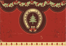 Vintage red Christmas Stock Image