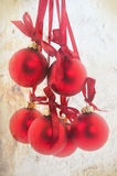 Vintage red christmas balls Royalty Free Stock Photos