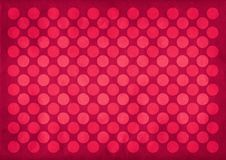 Vintage red circles pattern. Retro red circles pattern on a desaturated red background vector illustration