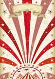Vintage red circus poster Royalty Free Stock Photo