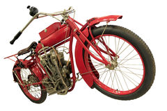 Vintage red city motorbike Royalty Free Stock Images