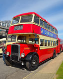 Vintage Red and Cream Bristol K5G Double Decker Bus. Felixstowe, Suffolk, England - May 01, 2016: Vintage Red and Cream Bristol K5G Double Decker Bus Stock Photography