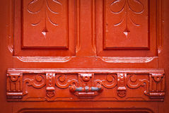 Vintage red door with chipped paint,background Stock Photography