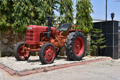 Vintage Red FAHR Tractor Stock Photography
