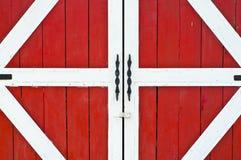 Red farm door. Stock Photography