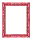 Vintage red frame isolated on white background , clipping path.  Stock Image