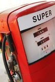 Vintage red fuel pump Stock Photos