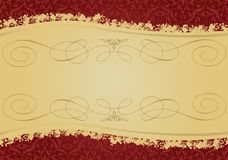Vintage Red and Gold decorative banner Stock Photos