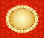 Vintage red and gold greeting card Royalty Free Stock Photo
