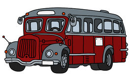 Vintage red and gray bus Stock Photography