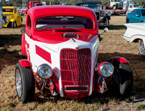Vintage  Red Hot rod Car Royalty Free Stock Photos