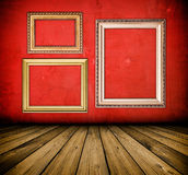 Vintage red interior Royalty Free Stock Images