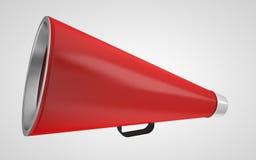 Vintage red megaphone. 3d high quality render Stock Images