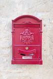 Vintage red metal mail box Stock Photography