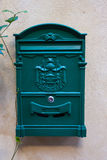 Vintage red metal mail box Stock Image